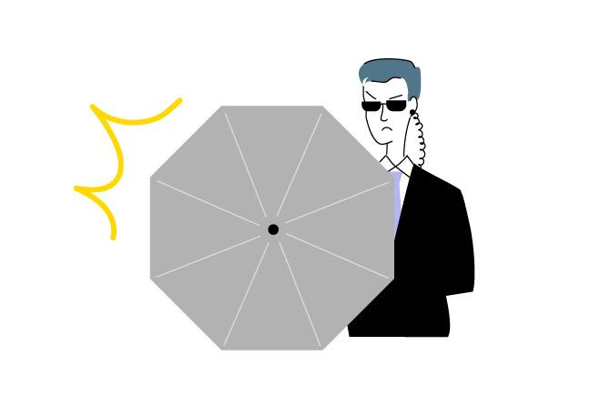 防弾・防刃の傘
