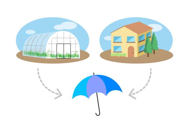 ビニールハウス・断熱シートの傘